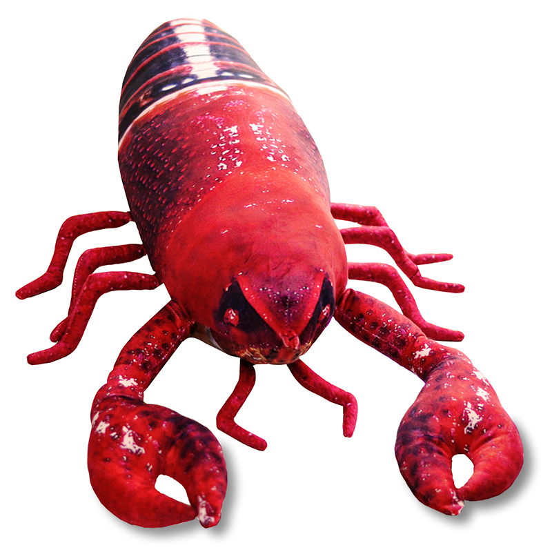 huge lovely plush black-red lobster toy big simulation lobster doll gift about 115cm