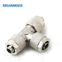 10Pcs/lot BE Push On Fitting Pipe Connection Tube Connector Sanmin