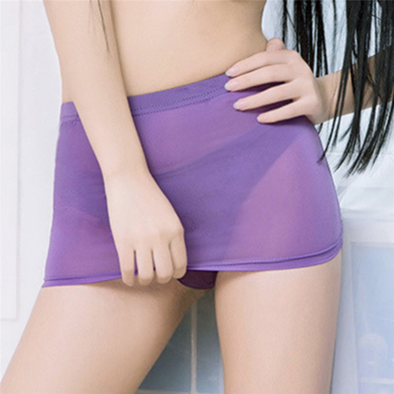 1pcs Women's <font><b>Sexy</b></font> Mini Skirt Bodydoll Lingerie Nightwear <font><b>Dress</b></font> <font><b>Transparent</b></font> Mesh Short Slim Hip Skirts <font><b>Night</b></font> <font><b>Club</b></font> Tight image