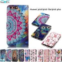 WeeYRN чехлы чехол на телефон на Huawei P10 P10 lite P10 plus(Хуавей П10 Лайт) корпус чехол для телефона кожаный Роскошный силиконовый PU флип бумажник для Huawei P10 Lite P10 Plus чехол книжка