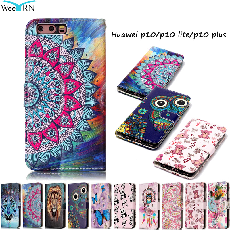 Huawei P10 P10Lite Θήκη πολυτελείας δερμάτινη θήκη Huawei P10 Lite P10 Plus Funda Wallet Card Stand Phone Cover Hawei P 10 P10Plus