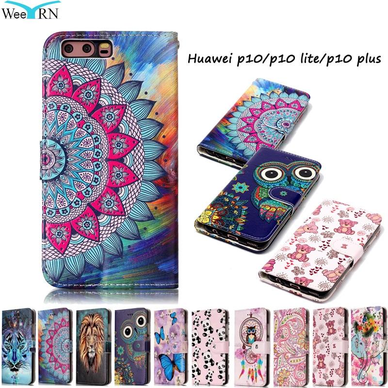 Huawei P10 P10Lite Pouzdro Luxusní Flip Kožené Pouzdro Huawei P10 Lite P10 Plus Funda Peněženka Card Stojan Kryt telefonu Hawei P 10 P10Plus