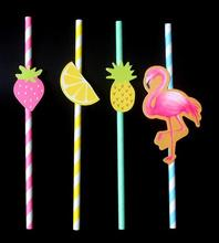 500pcs 2017 new Flamingo pineapple paper straw Halloween party