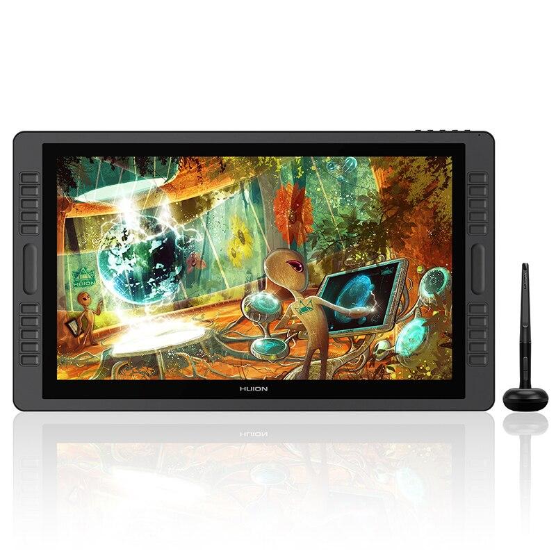 HUION kamvas Pro 22 GT-221Pro V2 батарея-Бесплатная ручка планшет монитор наклон Поддержка Графика рисунок ручка дисплей монитор 8192 уровней