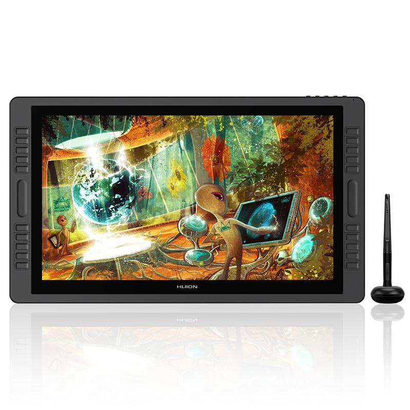 HUION kamvas Pro 22 GT-221Pro V2 Battery-free Pen Tablet Monitor Tilt Support Graphics Drawing Pen Display Monitor 8192 Levels