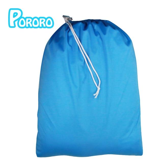 Nova vinda 1 pc frete grátis cor lisa um bolso molhado saco de fraldas seco, à prova d' água balde forro 50 cm * 60 cm 10 cores para sua escolha