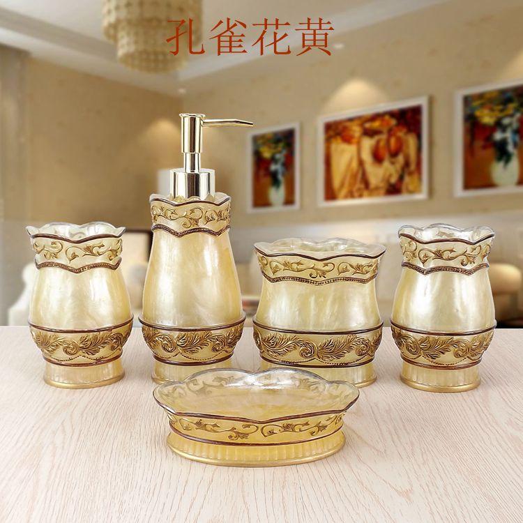 moda bagno forniture resina bagno set di cinque pezzi set di lavaggio set da bagno vasche