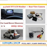 Car Parking Camera 4 3 LCD Monitor NTSC PAL 2 In 1 Parking Rearview System For
