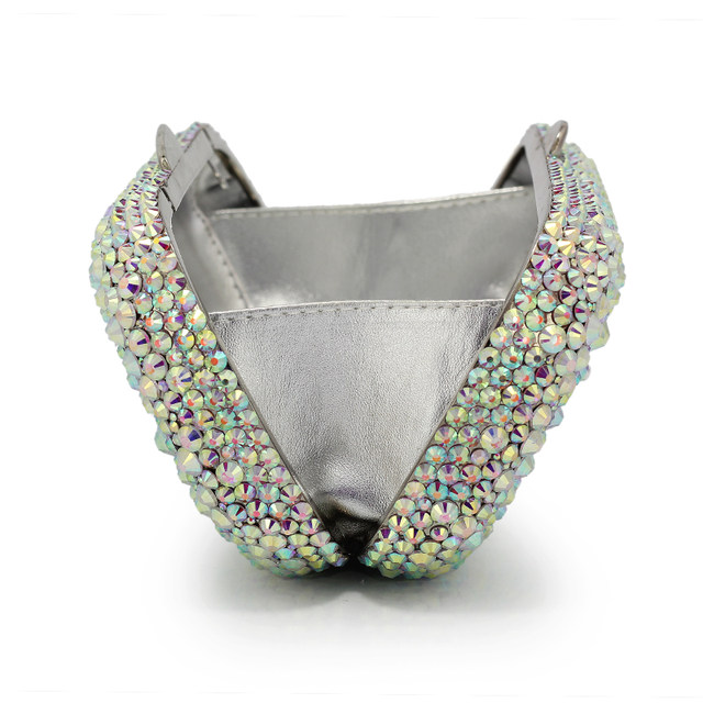 Gift Box White Full Crystals Rhinestone Ladies Plaid Metal Clutches Bag  Women Clutch Evening Bags Handbag(B1004-SP) 71a64521655cd