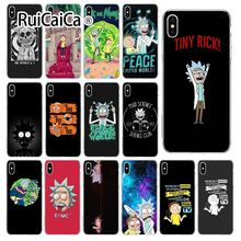 Ruicaica Rick and Morty Customer High Quality Phone Case for Apple iPhone 8 7 6 6S Plus X XS MAX 5 5S SE XR Cover yinuoda demi lovato customer high quality phone case for apple iphone 8 7 6 6s plus x xs max 5 5s se xr mobile cover