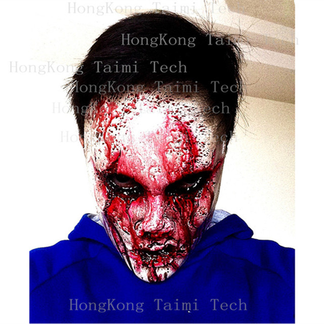 Realista Horror erotica Scary Mask Blood Zombie Anonymous Latex Skull adult Mascaras Clown Monster Killers terror Party maska