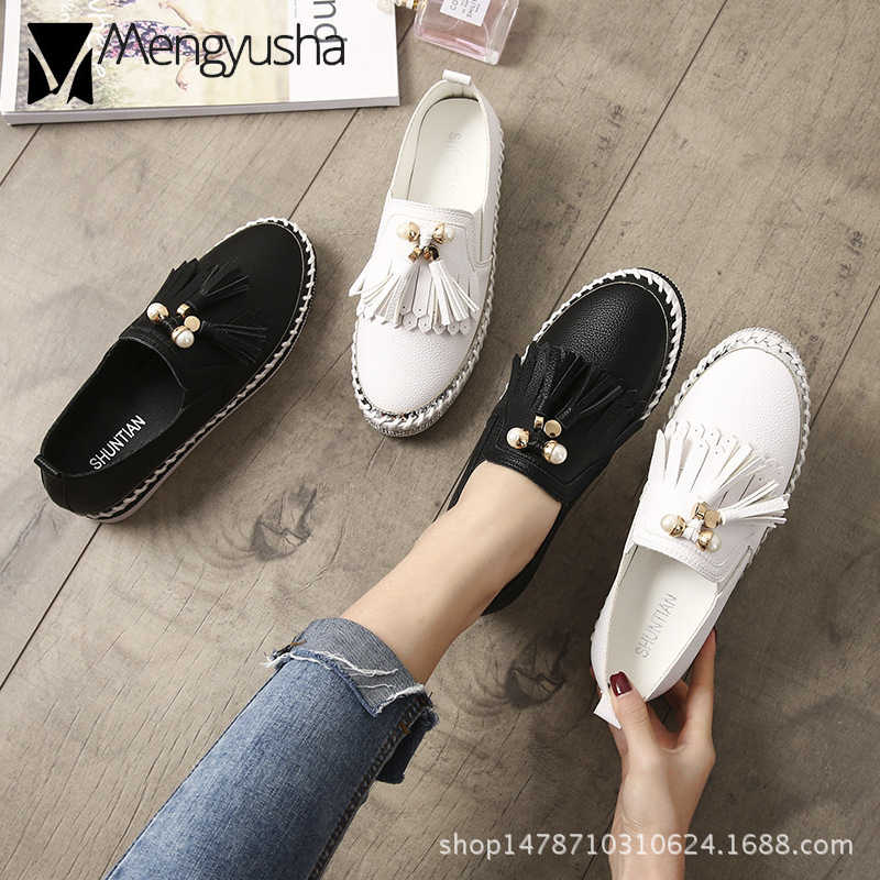 Crystal Small White Leather Shoes Women