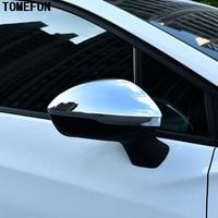 Tomepon 2 uds para Chevrolet Cruze 2016 2017 ABS cromado espejo lateral cubierta para espejo retrovisor accesorios de Exterior de coche