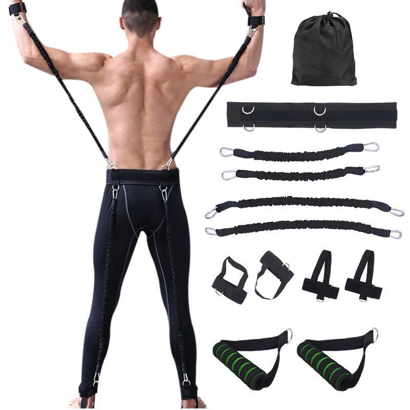 Faixas da Resistência Taekwondo Boxe CIMA Saltar Salto Crossfit Treinamento Braço Basquete Velocidade Mão Puxar Corda Agilidade Exercício para as Pernas