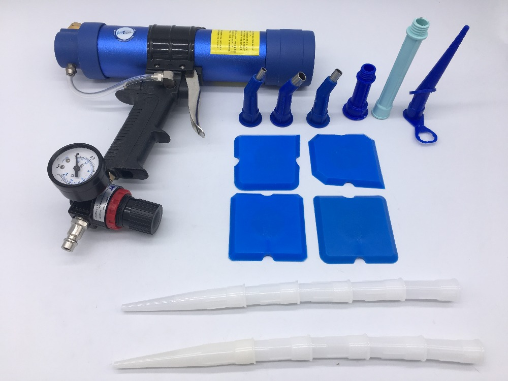 Pneumatic Cartridge Dispenser Air Caulking Gun Glass Cement Sealant Compressed Airflow Applicator Caulk Pistol 310ml Glue Tool radio-controlled car