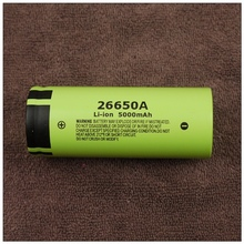 New Genuine Panasonic 26650A 3.7V 5000mAh High Capacity 26650 Li-ion Battery Rechargeable Batteries Free Shipping цена