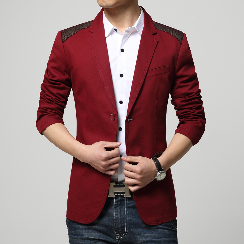 Online Shop Hot Sale 2015 New Sping Fashion Brand Red Blazer Men ...