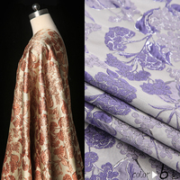 145cm high end jacquard fashion fabric gold line leaves jacquard fabric dress windbreaker shorts jacket jacquard wholesale cloth