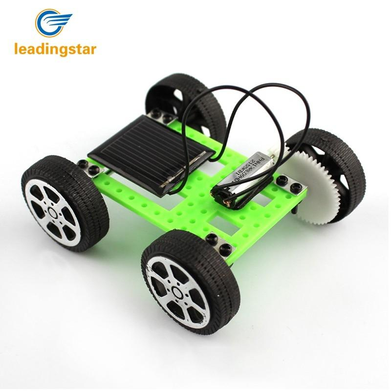leadingstar green 1pcs mini solar powered toy diy car kit children educational gadget hobby. Black Bedroom Furniture Sets. Home Design Ideas