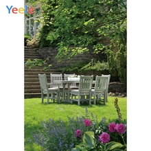 Yeele Landscape Photocall Villa Garden Afternoon Tea Photography Backdrop Personalized Photographic Backgrounds For Photo Studio