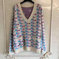Шелковый свитер для женщин с длинным рукавом v образным вырезом Пейсли леди пуловеры 2019 новый женский свитер