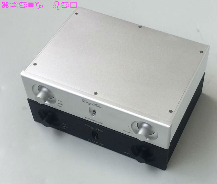 Silver black 2606A Full aluminum preamp chassis Power amp box //DIY case