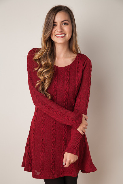Kleid vestidos 2017 kurze strick langarm kleid online shopping ...
