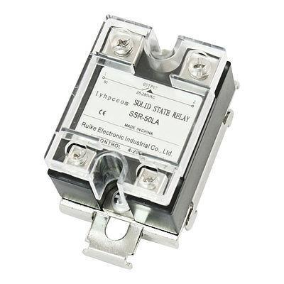 4-20mA to AC 28-280V 50A Single Phase Solid State Relay w Bracket Socket normally open single phase solid state relay ssr mgr 1 d48120 120a control dc ac 24 480v