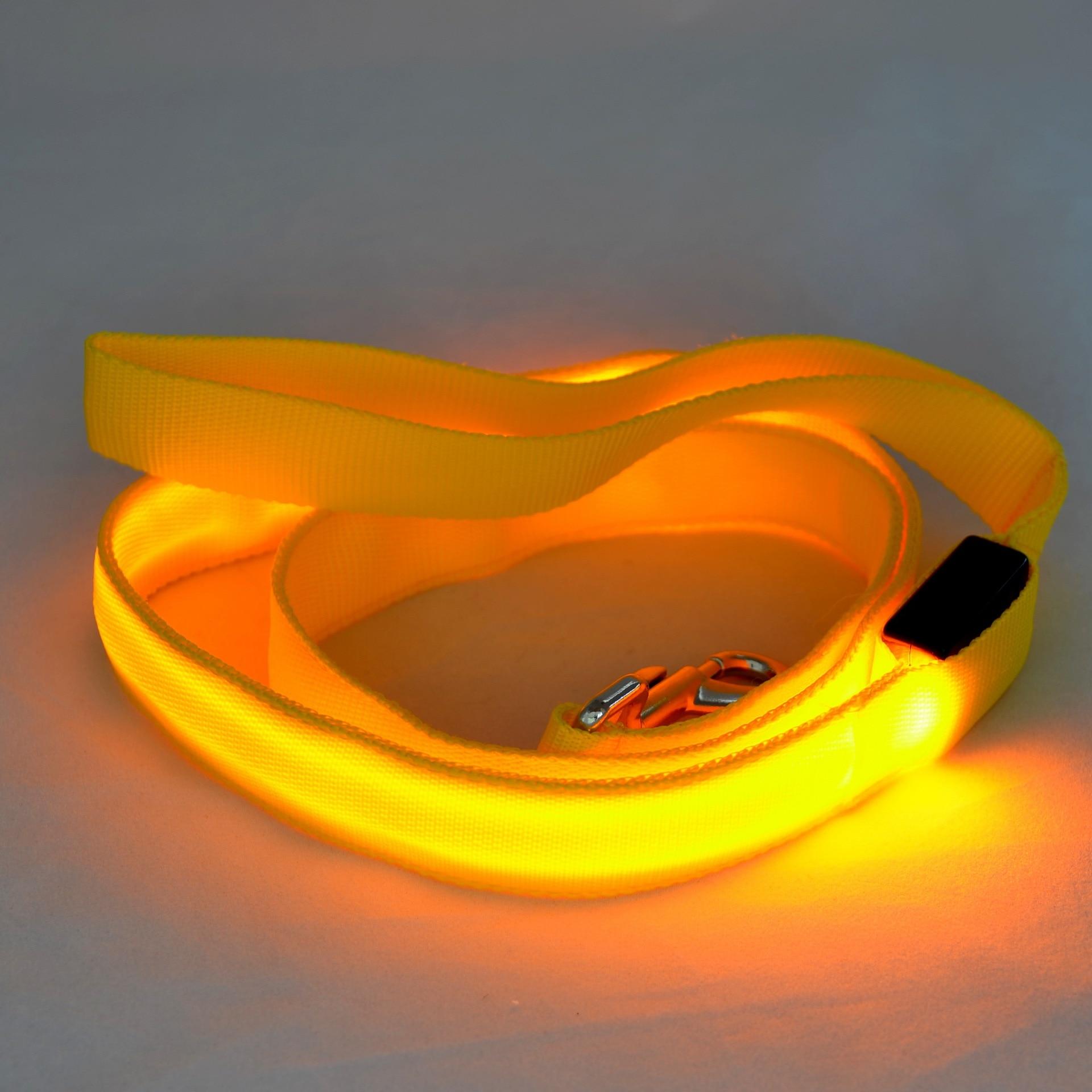 120cm Nylon Pet LED Dog Leash Night Safety LED Flashing Glow LED Pet Supplies Dogs Drawing Small Leads for LED Dog Collar