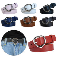 Heart Shape Pin Buckle Designer Imitation Leather belt Brand Belts High Quality leather Women
