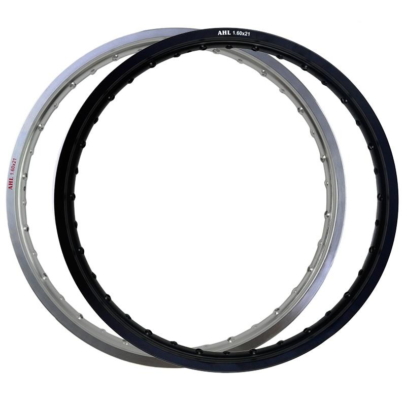 6061 Front Motorcycle Rim Aviation aluminum Black Silver 1 60x21 36 Spoke Hole 160 x 21