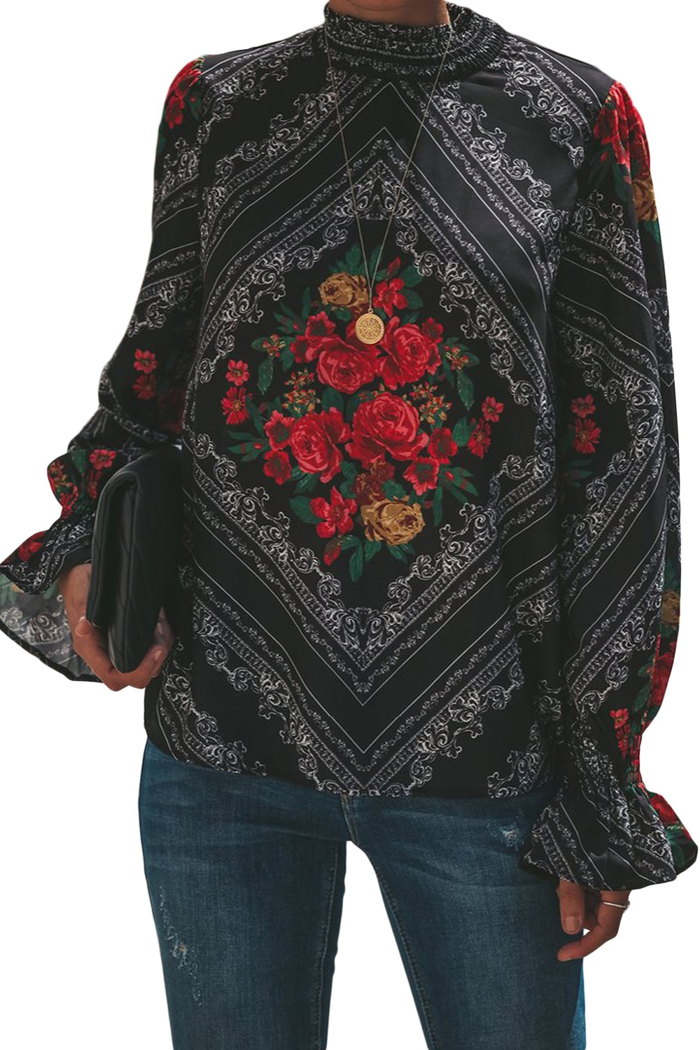 Gothic-Red-Rose-Print-Smocked-Long-Sleeve-Blouse-LC251632-3-1