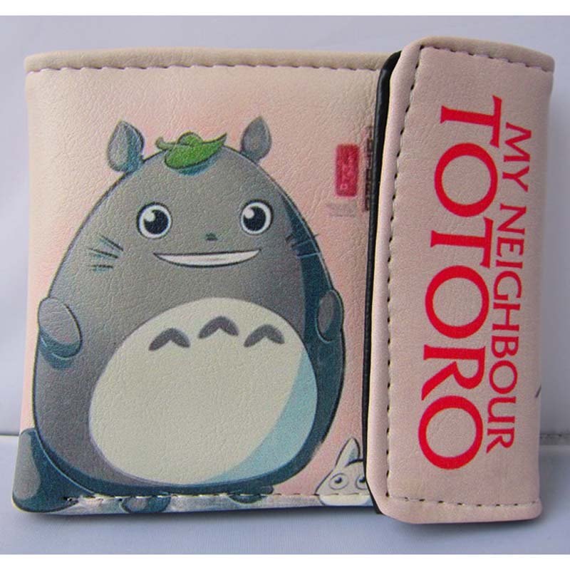 Miyazaki Hayao Anime My Neighbor Totoro Folding PU Short Wallet/Totoro Button Purse loz my neighbor totoro toy umbrella totoro model action figure diamond building blocks original box 14 gift 9509