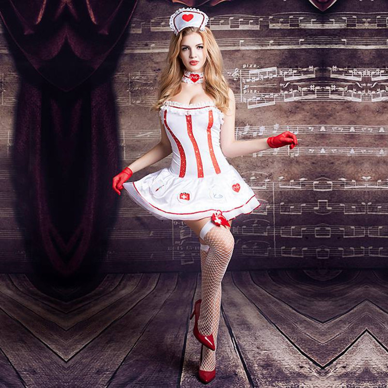 Nurse Suits erotic costumes for role playing games new sex suit for naughty girls sexy dress outfit for prom party 9705