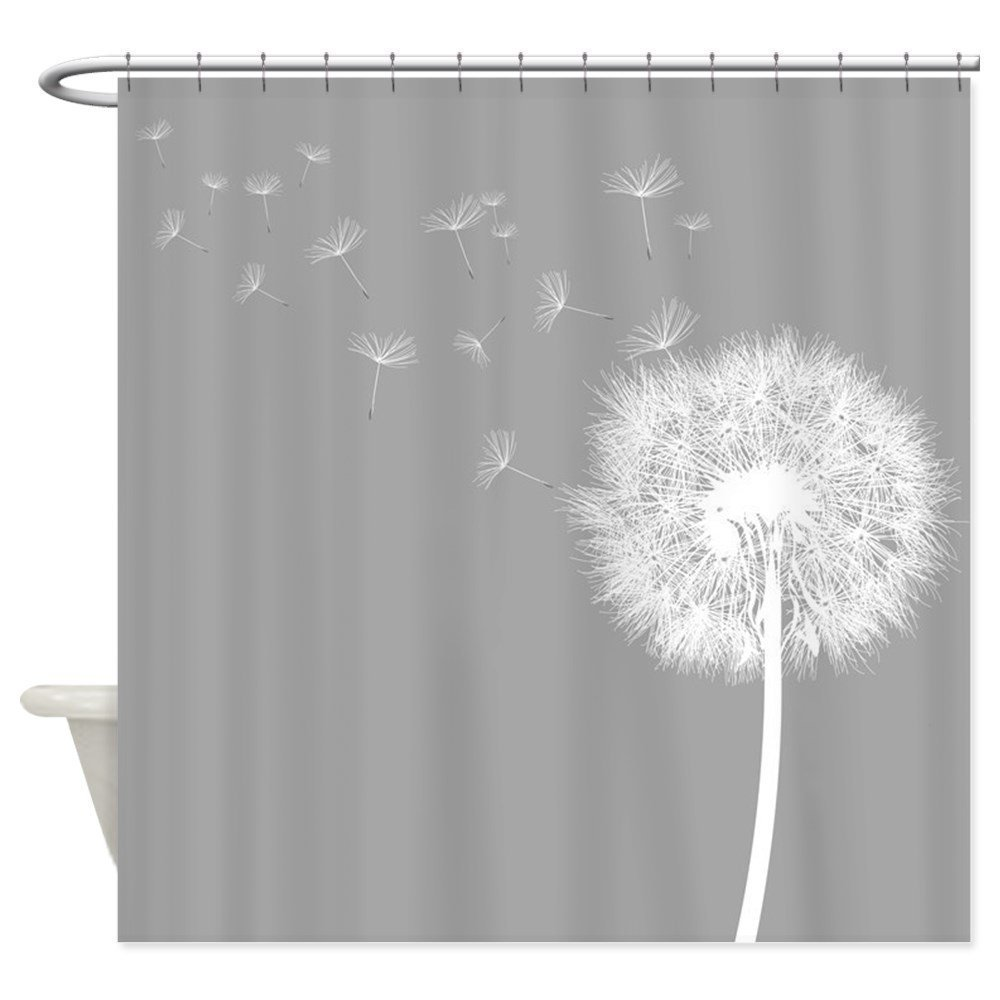 Memory Home Fabric Gray Shower Curtain For Home U0026 Bathroom Waterproof  Polyester Dandelion Pattern Shower Curtain