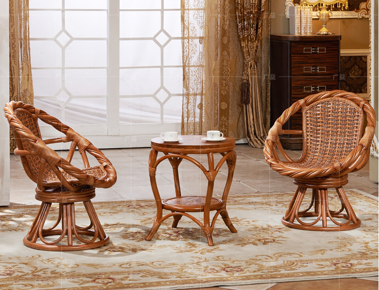 Exceptional 360 Degree Rotation Rattan Sofas Tea Table Set 2 Cane Chair 1 Table Home  Furniture Set Living Room Balcony Garden Sectional Sofa
