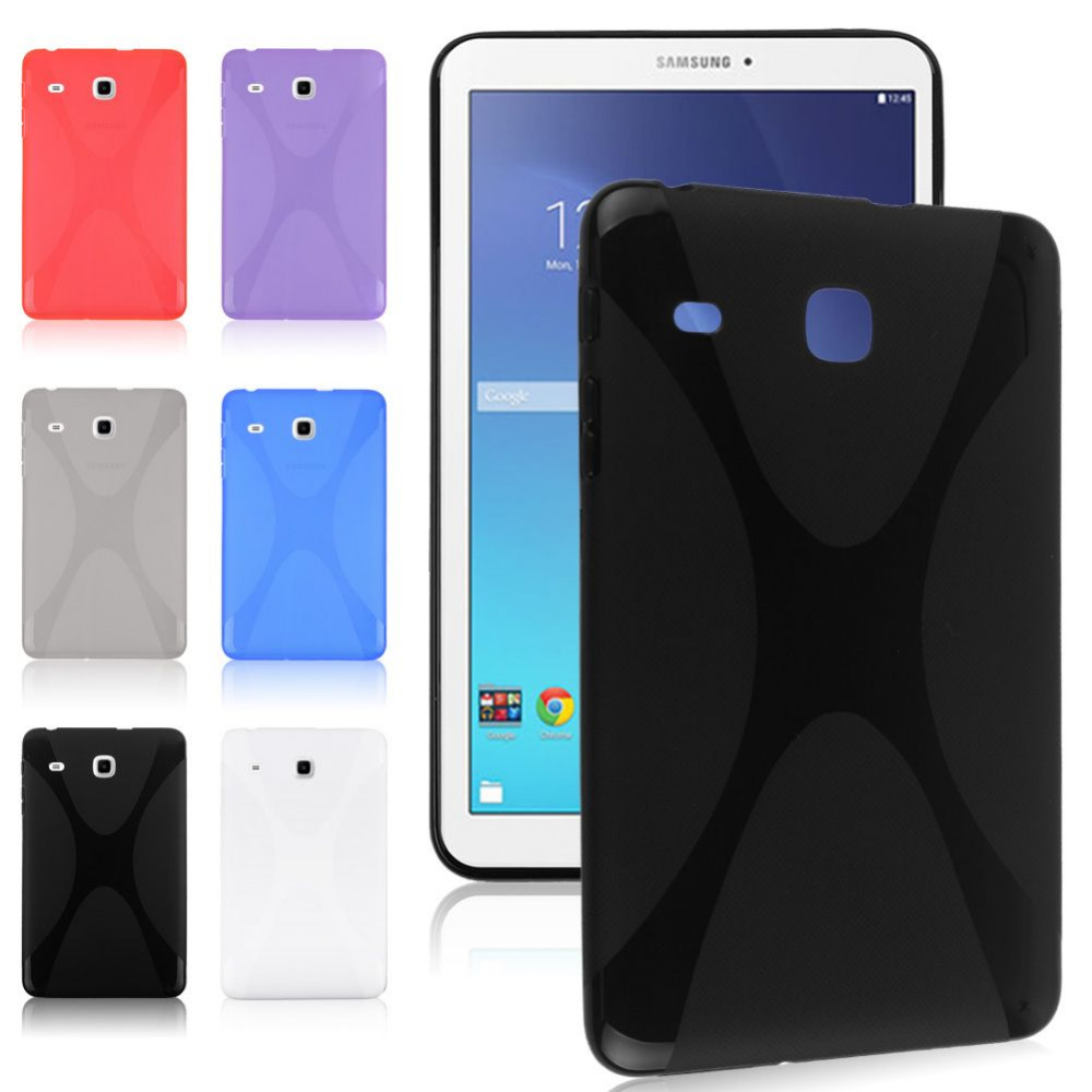 Slim X Line Soft TPU Gel Case Cover For Samsung Galaxy Tab E 8.0 T377P T377V T377R T377A Tablet Back Cover Skin new x line soft clear tpu case gel back cover for samsung galaxy tab s2 s 2 ii sii 8 0 tablet case t715 t710 t715c silicon case