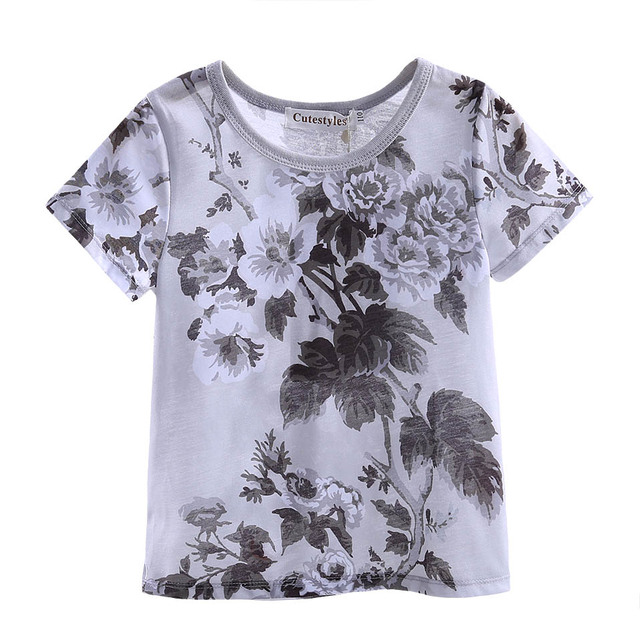 Pettigirl Toddler Boys Summer Short Sleeves T-Shirt With Flower Print Boy Clothes For Kids New Children Clothing BT90311-002L