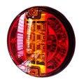 Caminhão Reboque Emark 140mm 20LED Luzes Traseiras Parada Âmbar Esquerda Vire À direita Do Sinal Lâmpada Redonda Caravana Lorry Van Luz Traseira 12 V/24 V