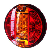 Emark 140mm 20LED Trailer Truck Stop Tail Lights Amber Left Right Turn Signal Round font b