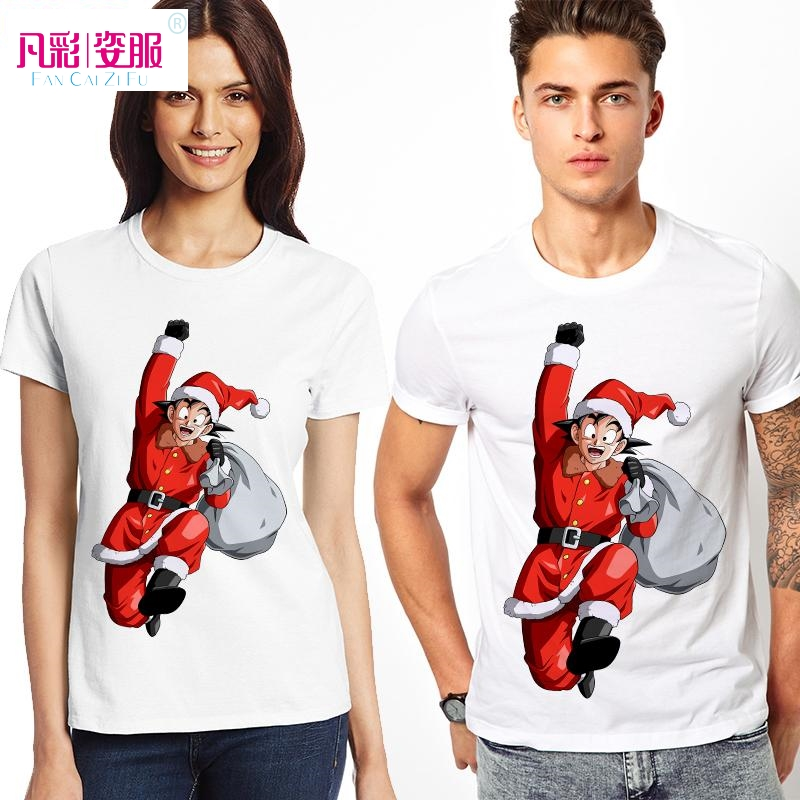 Cool Design Santa Claus Merry Christmas T Shirt Goku T shirt Dragon ...