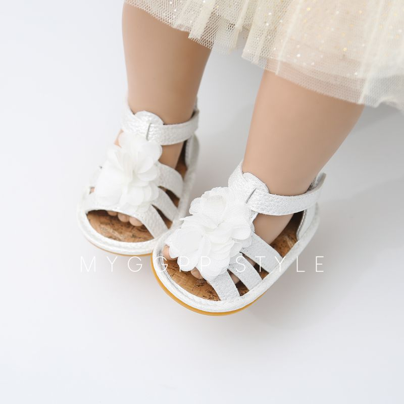 5bd4ae867 Flower Girl Shoes Newst Summer Baby Girl Sandals 0 18M Fashion Flowers Non  slip Newborn Baby Sandals Rome Style-in Sandals   Clogs from Mother   Kids  on ...