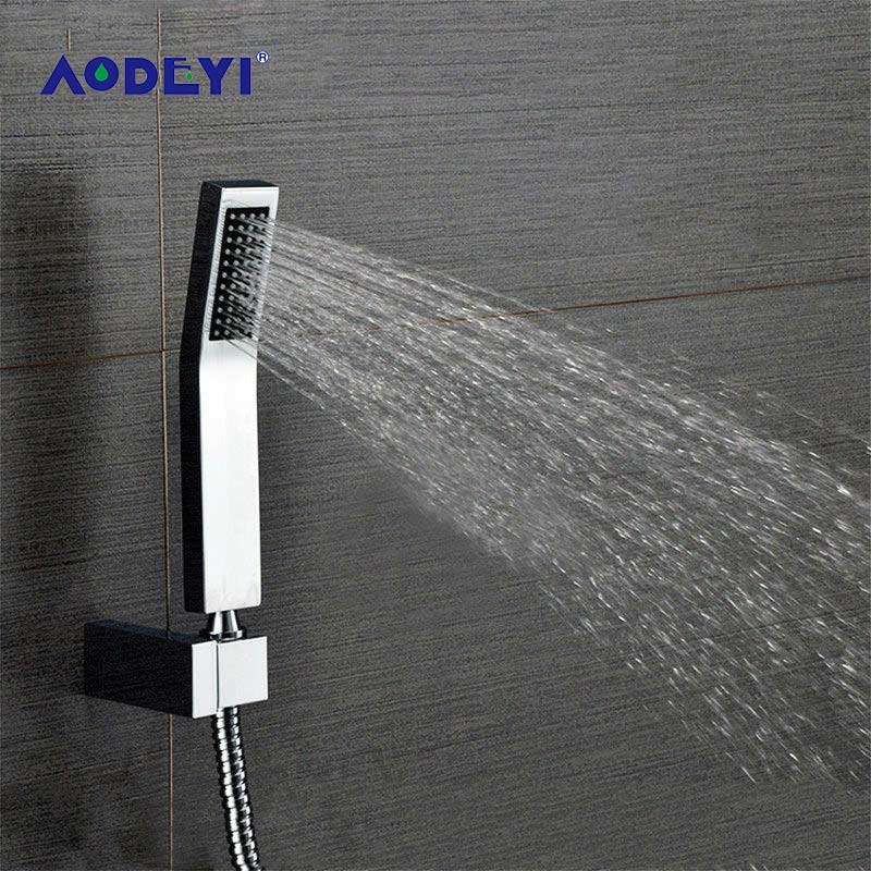 AODEYI Hand Held Shower Head Sets Brass Handheld Shower +1.5M Stainless Steel Shower Hose + Abs Holder 03-192