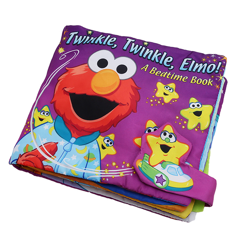 Home Dashing Soft Play Goodnight 3d Washable Cloth Book Twinkle Elmo Babies Bedtime Book Early Education Multifunctional Cloth Book Durable In Use