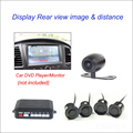 Night Vision 4 Parking Sensors Vehicle Car Auto Backup Reverse Radar System Alarm With 1 Rear View Reversing Camera