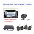 Night Vision 4 Parking Sensors Vehicle Car Auto Backup Reverse Radar System Alarm With 1 Rear View Reversing Camera
