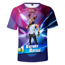 New fashion Fortnite fox mask printing t-Shirt men Casual team t-shirts male 3d tshirt swag game t shirts man tops tees FT01