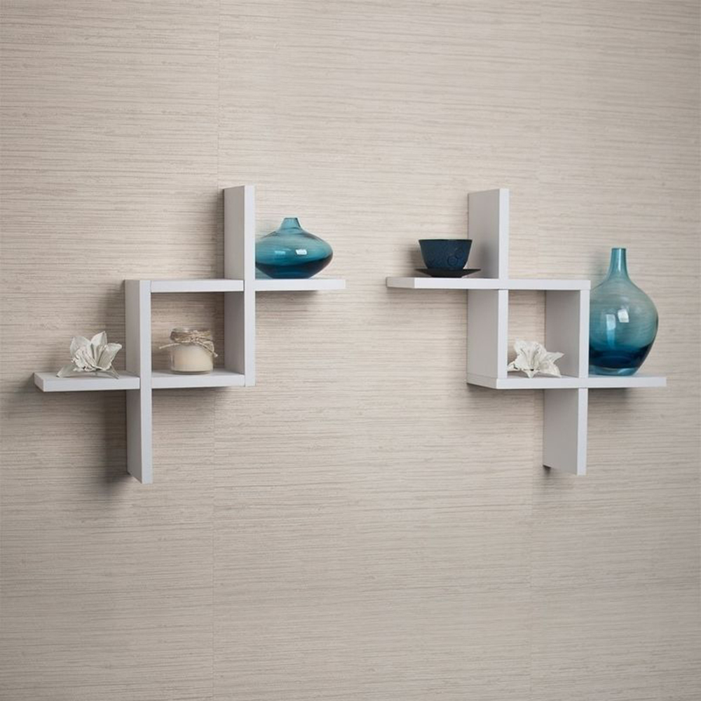 Superb Us 22 49 7 Off 2Pcs Set Reversed Criss Cross Wall Mounted Floating Display Solid Wall Shelf Bookshelf Flower Pot Display Rack Ledge Storage In Download Free Architecture Designs Scobabritishbridgeorg