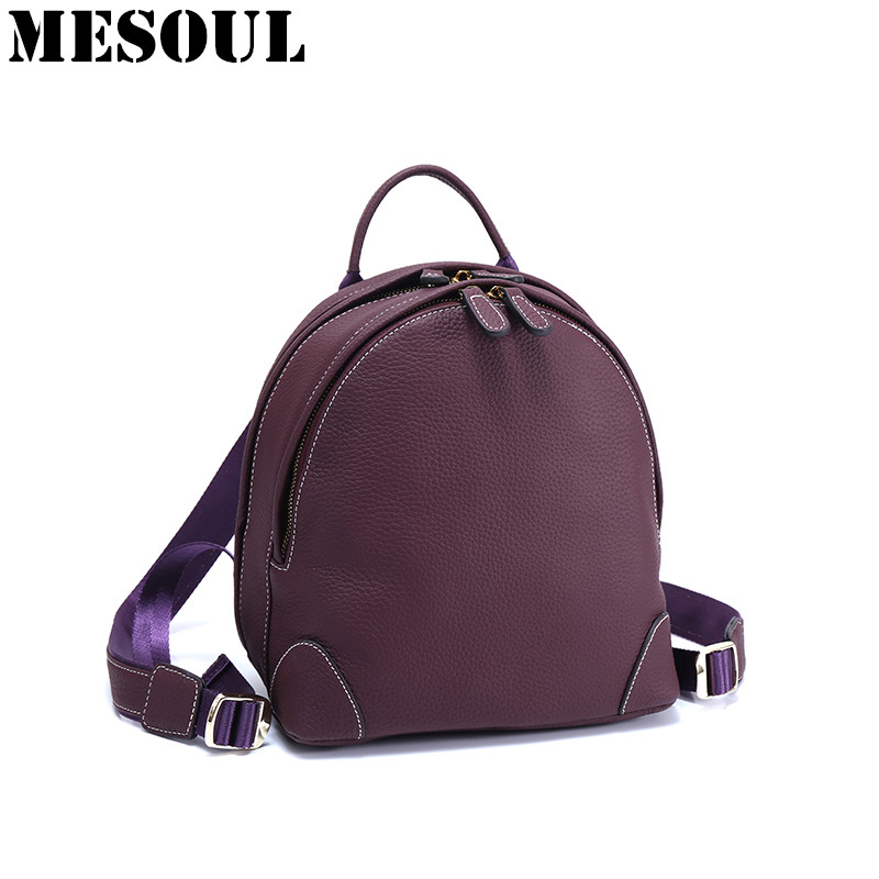 Backpack Women Mini Backpack School Bags Teenagers Girls Genuine Leather Small Rucksack Fashion Travel Bag Mochila Feminina Sac купить