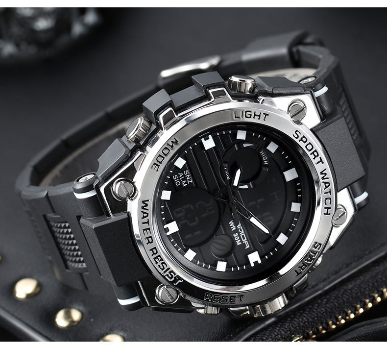 HTB1WSJqaE rK1Rjy0Fcq6zEvVXao - SANDA 739 Sports Men's Watches Top Brand Luxury Military Quartz Watch Men Waterproof S Shock Male Clock relogio masculino